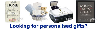 Buy personalised gifts