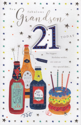 Grandson 21st Card