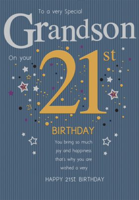 21st Grandson Card