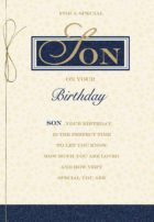 Son Gold Text Birthday Card