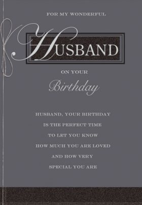 Husband Text Birthday Card