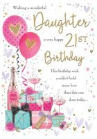 Daughter 21 Presents Card