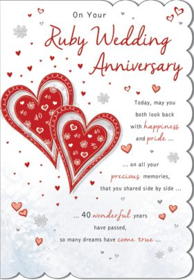 Anniversary Ruby Red Hearts