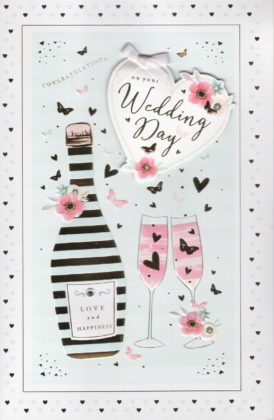 Wedding Card Hand Finished