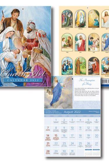 Church art calendar month scenes 2022