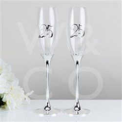 25th Anniversary Champagne Flutes