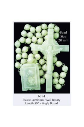Luminous Plastic Wall Rosary