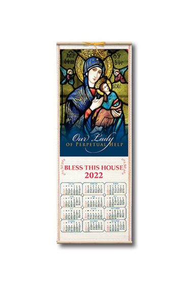 Wood Scroll Calendar Perpetual