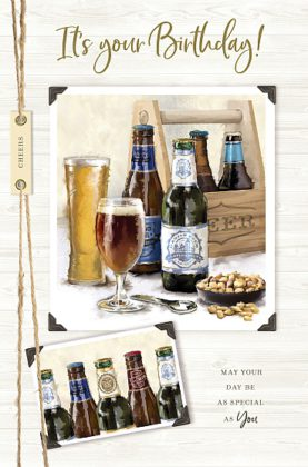 Male Birthday Card Beers