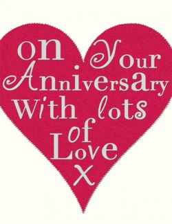 Anniversary Card Red Heart