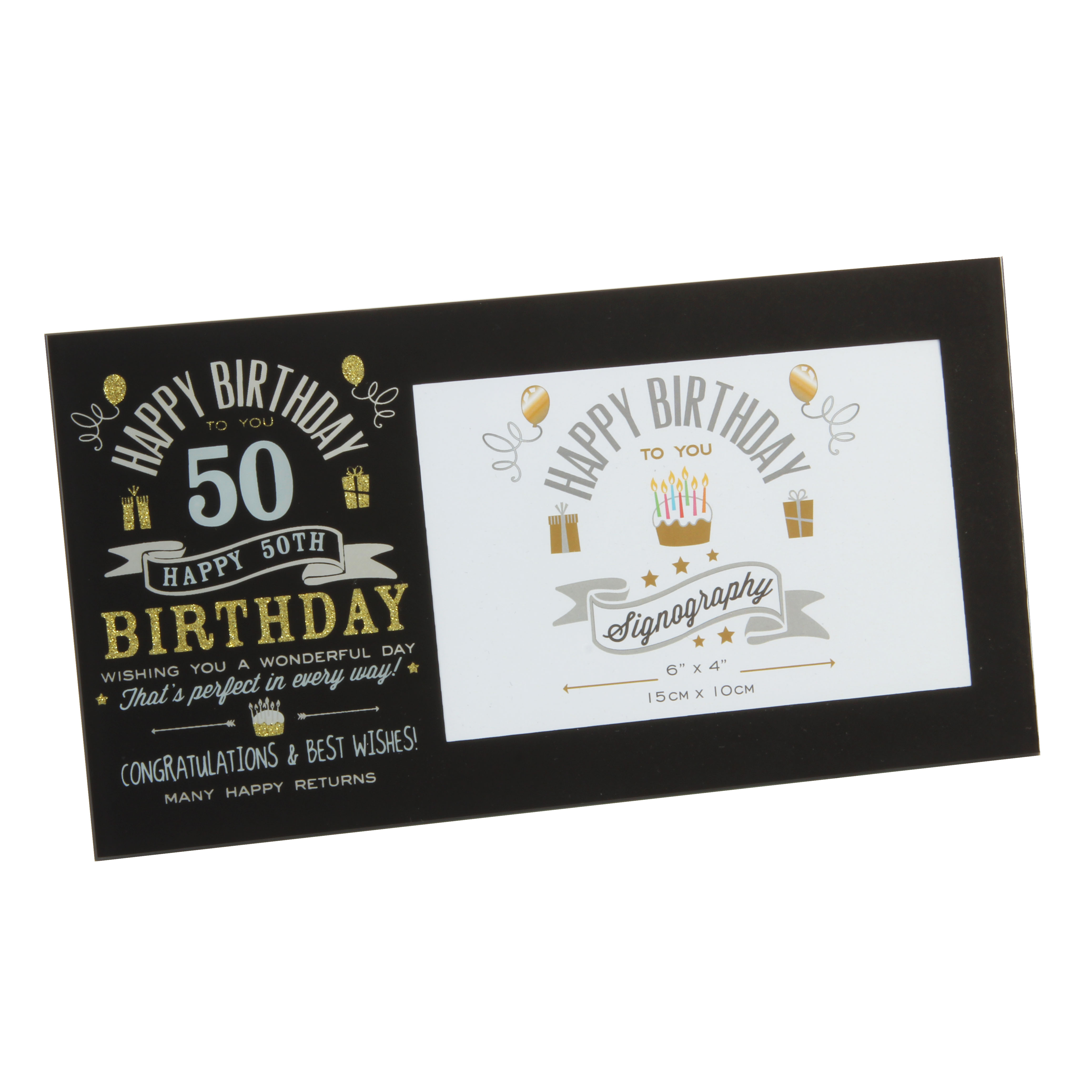 Birthday Frame 50th - One For Occasions