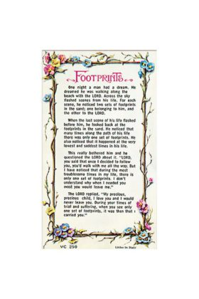 Footprints Prayer Card 7135250