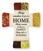 A Ceramic standing Home Cross with a verse