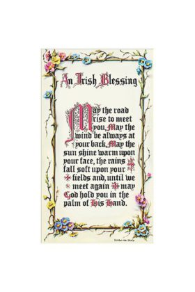 Irish Blessing Prayer Card 7135222