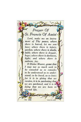 St Francis Prayer Card 7135206
