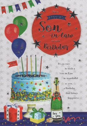 Son In Law Cake Card